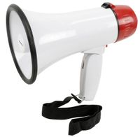 Adastra L01R Megaphon Megafon10W mit Aufnahme-Funktion Sirene Sprachverstärker - EL952002