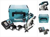 Makita DSS 611 RTJ Akku Handkreissäge 18V 165 mm im Makpac + 2x 5,0Ah Akku + Ladegerät