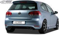 RDX Racedesign Heckansatz für VW Golf 6 Limo GTI-Look DIFFUSOR Spoiler Stoßstang
