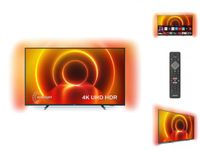 Philips TV 70PUS7805/12 70 Zoll Fernseher mit Ambilight und Sprachsteuerung (4K UHD LED TV, HDR10+, Dolby Vision, Dolby Atmos, Saphi Smart TV) - Rahmen Grau, Standfuß Silber