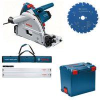 Bosch Tauchkreissäge GKT 55 GCE L-Boxx + Set 2x FSN 1600 + HM-Blatt 160x20 Z. 24