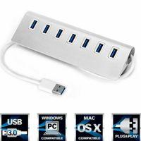 USB 3.0 7 Port HUB Aktiv Verteiler USB Kabel für Notebook Laptop MP3 /4 Mac Pro