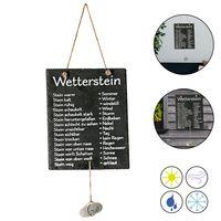 """Wetterstation """"Stein"""" auf Schiefertafel Wettertafel Schild Tafel beschriftet 20 x 25 cm"""