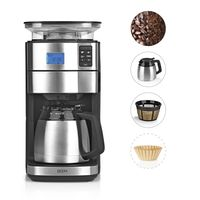 Kaffeemaschine Filterkaffeemaschine Kegel Mahlwerk Thermoskanne Timer 10 Tassen