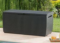 KETER-Rattan Style Box Capri 305 Liter-Auflagen- und Universalbox in Rattanoptik-anthrazit-6039EC