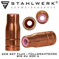 STAHLWERK Fülldrahtdüse Gasdüse für Fülldraht Schweißen MIG MAG für AK15 Brenner bis 200A FLUX