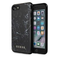 Guess Marble Collection Apple iPhone 7 / 8 / SE 2020 Schwarz Marmor Hard Case Cover Schutzhülle