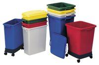 Abfall- u.Wertstoffsammler 60l H590xB285xT555mm PE grün GRAF