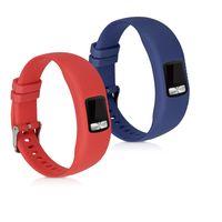 kwmobile 2x Sportarmband kompatibel mit Garmin Vivofit 4 - Armband Silikon Fitnesstracker