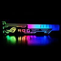 RGB25 RGB-Grafikkartenstaender Buntes horizontales 12V 4Pin-Netzteil mit LED-Lichtkartenhalter