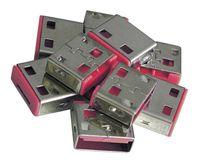 LINDY USB Port Schloss (10 Stück) OHNE Schlüssel: Code ROT 40460