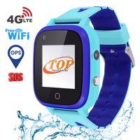T5 4G Kinder Smartwatch Uhr, wasserdicht Kids Smart Watch für Kinder mit SOS Anti-Lost Kinderuhr mit Positionierung Voice Chat Taschenlampe Uhr Kamera Deutschland Display (Blau)