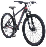 BIKESTAR Alu Mountainbike 29 Zoll | 21 Gang Hardtail Sport MTB 17 Zoll Rahmen Scheibenbremse Federgabel | Schwarz Rot