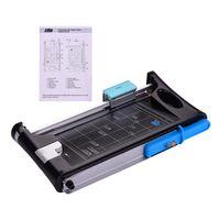 DSB Doppelseitiger Papierschneider Multifunktionaler A4-Fotoschneider Guillotine Straight-Skip-Wave-Eckschneider mit 13-Zoll-Schnittlaenge fuer das Buerobuero im Schulbuero