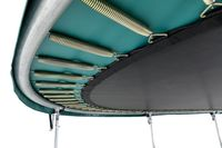 BERG Trampolin rund 380 cm schwarz mit Sicherheitsnetz Comfort Favorit Regular