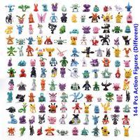 144pcs Verschiedene Stile 2,5-3 cm Kleine Pokemones Anime pkm Action Figure Spielzeug Modell Figur Spielzeug Cartoon Figure Spielzeug Geburtstagsgeschenke für Kinder