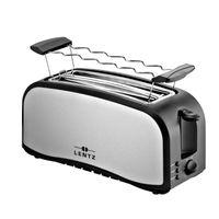 LENTZ Langschlitz Toaster 4-Scheiben Toastautomat 74141 silber-schwarz