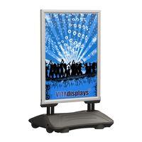 Kundenstopper WindPro® Plakatständer DIN A1 (graue Basis) Wetterfest