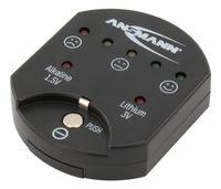 ANSMANN Knopfzellentester mit Kapazitätsanzeige für Alkaline & Lithium Zellen
