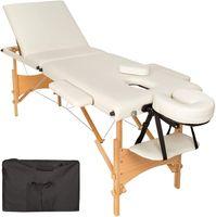 3 Zonen Mobile Massageliege Inkl.tasche Liege Massagebank Klappbar Beige