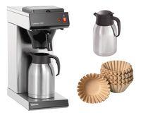 Kaffeemaschine Contessa 1002 + 250 Korbfilter + 2. Isolierkanne