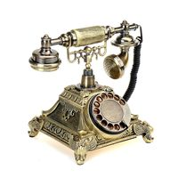 Retro Antik Telefon Festnetztelefon Tisch Vintage Haustelefon Retrotelefon, Bronze