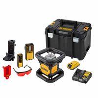 DeWALT Rotationslaser DCE079D1R-QW - rot - inkl. Akku + Ladegerät + Elektronischer Empfänger + Fernbedienung + Zieltafel + Laserbrille + TSTAK-Box