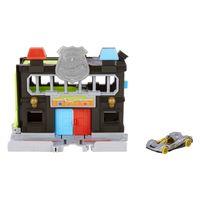 Hot Wheels City Polizei-Station Spielset, inkl. Spielzeugauto