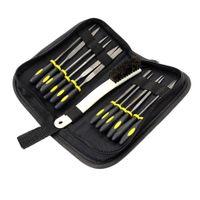 15 Stück Nadelfeile Set Mini Diamant Handfeile Holzraspel Set mit Gummihandgriffen