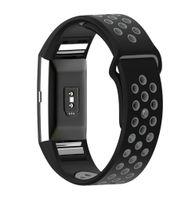 Fitbit Charge 2 Armband Silikon schwarz/grau