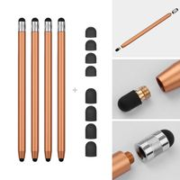 2 in 1 Universal-Touchscreen-Stift fuer alle Touchscreen-Tablets Handys mit 8 extra auswechselbaren Weichgummispitzen