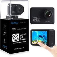 AKASO Action Cam V50 Pro SE LNT 4K/60fps WiFi Sport Kamera 20MP, 39m Unterwasserkamera Touchscreen EIS einstellbar Blickwinkel Fernbedienung, Helmkamera mit 3 Batterien und Zubehör-Kits