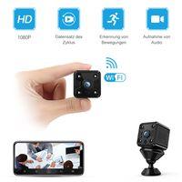 Mini Kamera, 1080P HD Kleine Überwachungskamera Lange Batterielaufzeit Videoanrufkamera Nanny Sicherheitskamera