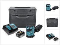 Makita DBO 180 ST1X Akku Exzenterschleifer 18 V 125 mm + 1x Akku 5,0 Ah + Ladegerät + Makbox