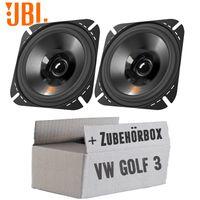 Lautsprecher Boxen JBL Stage2 424   2-Wege   10cm Koax Auto Einbauzubehör - Einbauset für VW Golf 3 Armaturenbrett Front - justSOUND
