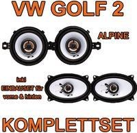 Lautsprecher - Alpine Komplettset für vorne & hinten für VW Golf 2 - justSOUND