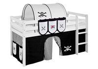 Lilokids Hängetaschen Pirat Schwarz Weiß - für Hochbett, Spielbett und Etagenbett - Maße: 41 cm x 85 cm x 0,5 cm; TS14-PIRAT-SCHWARZ