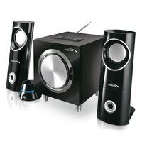 2.1 Multimedia-Lautsprecher Lautsprechersystem 15W (R.M.S.) Lautsprecher Subwoofer Bluetooth Radio AUX SD-Kartenslot USB Audiocore