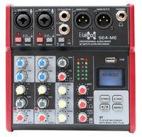 E-Lektron SE-4 Live streaming Mischpult 2-Kanal + stereo AUX / USB / Bluetooth EL172578