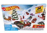 Mattel FYN46 - Hot Wheels - Adventskalender mit 8 Autos und 16 Zubehörteilen