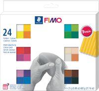 "FIMO SOFT Modelliermasse-Set ""Basic"" 24er Set öfenhärtend"