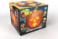Halloween Jabberin Jack sprechender animierter Kürbis mit eingebautem Projektor und Lautsprecher Plug'n Play