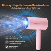 CkeyiN 1200W Mini Hair Dryer Negativer Ionen-Haartrockner mit 3 Gängen Reisehaartrockner Erwärmung bei konstanter Temperatur Für Reisen Haushalt