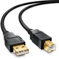 deleyCON 10m aktives USB 2.0 Kabel Druckerkabel Scanner Kabel mit Signalverstärker USB2.0 Repeaterkabel PC Computer Drucker Scanner