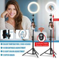 INSMA 140cm Stativ 22cm LED Studio Dimmbar Ringlicht Ständer Telefon bluetooth Selfie Youtube Live