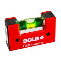 Sola GO! magnetic Mini-Wasserwaage, 6.8 cm Länge, magnetisch, Focus Libelle