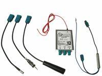 Dietz 41108 DAB+ Splitter Antenne FM UKW Verstärker Phantom Einspeisung passend für VW Audi