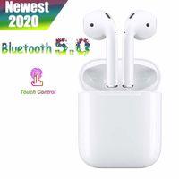 Drahtlose In-Ear-Kopfhörer Bluetooth 5.0-Headsets, Touch-Ohrhörer (IPX7) Wasserdichter Bass 3D-Stereo-Sportmikrofon-Kopfhörer 20H Musik-Freisprecheinrichtung, für Apple iPhone / Android / AirPods Pro