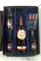 Southern Comfort Whiskey Set / Geschenkset - Southern Comfort Whiskey 0,7l 700ml (35% Vol) + 3x Thomas Henry Ginger Ale 200ml + Shakers Glas geeicht 4cl - Inkl. Pfand MEHRWEG