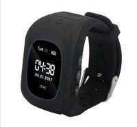 Kinder Smartwatch Armbanduhr Telefon GPS+LBS Uhr SOS Telefonuhr Schwarz